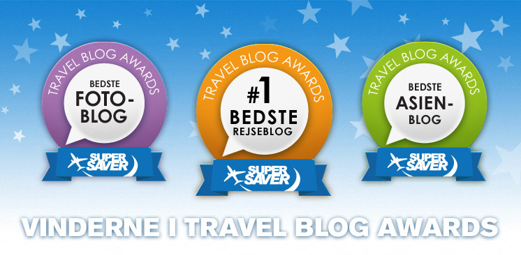 Vinnare i Supersavertravel Travel Blog Awards 2012
